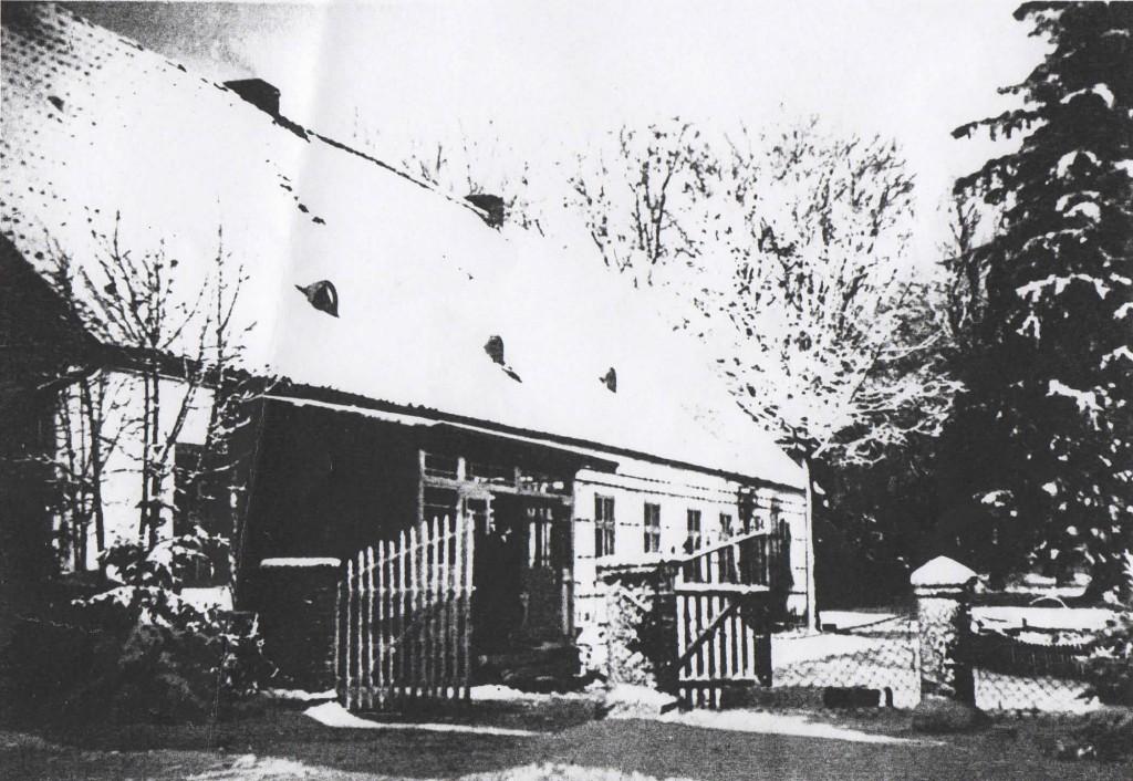 Widok Dworu od podwórka - Zima 1940